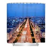 Avenue Des Champs Elysees In Paris Shower Curtain