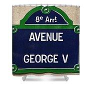 Avenue George Le Cinq  Shower Curtain