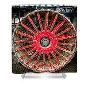 Avery Tractor Tire Shower Curtain