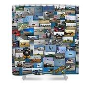 Aviation Collage Shower Curtain