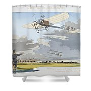 Aviation Meeting At Champagne Shower Curtain