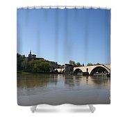 Avignon - Pont Saint Benezet Shower Curtain