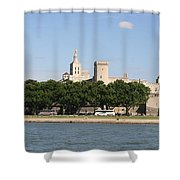 Avigon View From River Rhone Shower Curtain