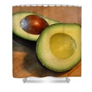 Avocado Shower Curtain by Michelle Calkins