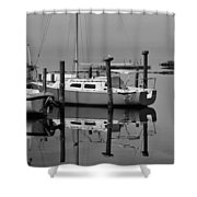 Avon Harbor Calm Reflection Bxw 1/13 Shower Curtain