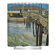 Avon Pier 6 10/10 Shower Curtain