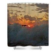 Avon Pier Splash Sunrise 7/26 Shower Curtain