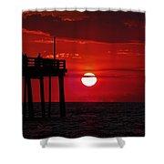 Avon Pier Sunrise 1 7/26 Shower Curtain
