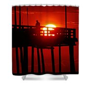 Avon Pier Sunrise 2 7/26 Shower Curtain