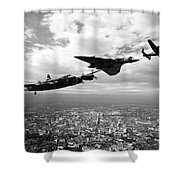 Avro Birds - Mono  Shower Curtain