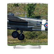North American B-25 Mitchell Bomber Taking Off. Shower Curtain