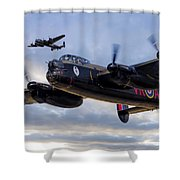 Avro Lancasters  Shower Curtain