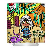 Awakened  Shower Curtain