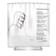 Awakening Divine Self Worth Sketch Of Jesus 2 Shower Curtain
