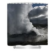 Awakening In Yellowstone Shower Curtain