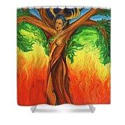 Awakening The Chakra Tree Shower Curtain