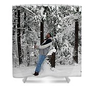 Awestruck By The Beauty Of Snow Shower Curtain