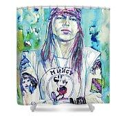 Axl Rose Portrait.1 Shower Curtain