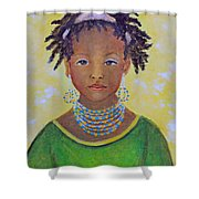 Ayana Beautiful Flower Shower Curtain by The Art With A Heart By Charlotte Phillips