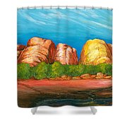 Ayers Rock End Shower Curtain