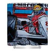 Ayrton Senna Monaco 93 Shower Curtain