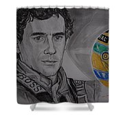 Ayrton Senna Portrait Shower Curtain