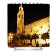 Ayuntamiento Por La Noche Shower Curtain
