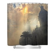 Ayuntamiento Valencia After Mascleta Shower Curtain