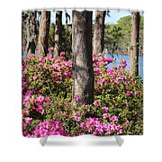 Azalea At The Lake Shower Curtain