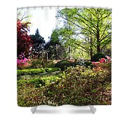 Azalea Garden Shower Curtain