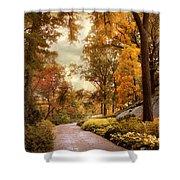 Azalea Garden In Autumn Shower Curtain