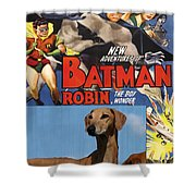 Azawakh Art - Batman Movie Poster Shower Curtain