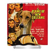 Azawakh Art - The Flame Of New Orleans Movie Poster Shower Curtain