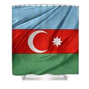 Azerbaijan Flag Shower Curtain by Les Cunliffe