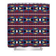 Aztec Blue Pattern Shower Curtain