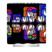 Aztec Convoy Shower Curtain