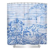 Azulejos Traditional Tiles In Porto Portugal Shower Curtain
