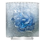 Azure Touch  Shower Curtain