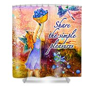 Azuria - Share The Simple Pleasures Shower Curtain