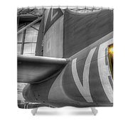 B-17 Bomber Tail Shower Curtain