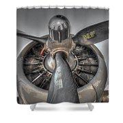 B-17g Bomber Prop Shower Curtain