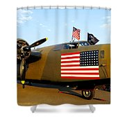 B-24 Bomber - Diamond Lil Shower Curtain