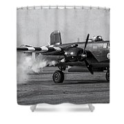 B-25 Mitchell Mk IIi Powers Up Shower Curtain