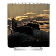 B-25 Sunset Shower Curtain