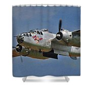 B-25 Take-off Time 3748 Shower Curtain