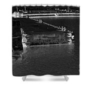 B And W Port  Shower Curtain