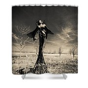 B And W Shower Curtain