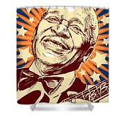 B. B. King Shower Curtain
