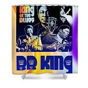 B. B. King Poster Art Shower Curtain