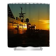 B C Ferries Sunsets Sc3417-13 Shower Curtain